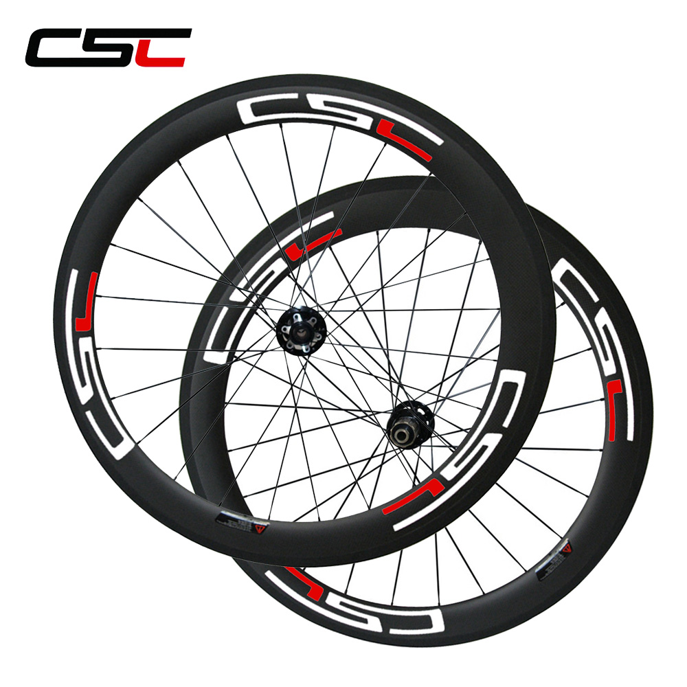 CSC Disc Brake 23mm Width 60mm Clincher carbon road wheels Cyclocross wheelset road disc brake bike 50mm clincher carbon wheels 38mm 60mm cyclocross bicycle wheelset straight pull disc brake bicycle wheels