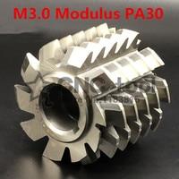 M3 โมดูลัส PA30 องศาแบบหมุนวน HSS hob 70x70x27 มิลลิเมตรเกียร์ตัดเครื่องมือจัดส่งฟรี|มีดกัด|   -