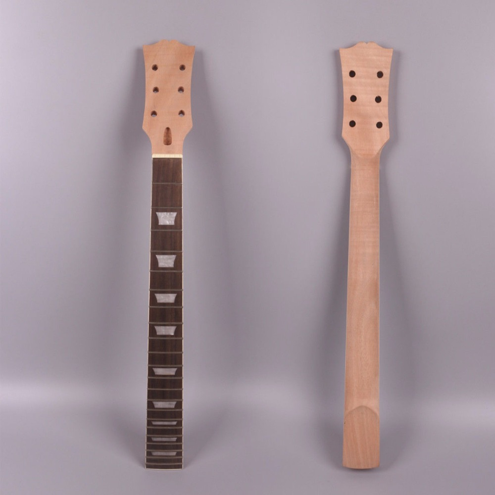 1x electric guitar neck 22 fret inch solid wood handmade standard size l5 in guitar. Black Bedroom Furniture Sets. Home Design Ideas