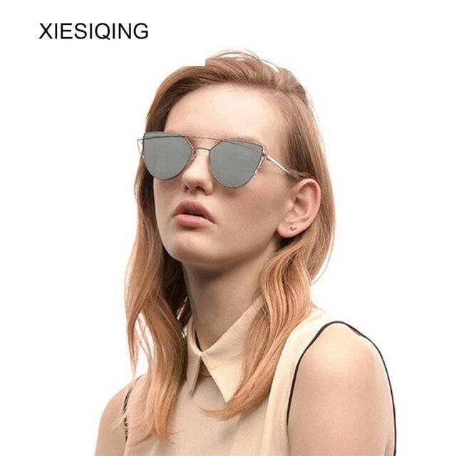 XIESIQING Sunglasses Women brand Gradient Ocean Lens Cat Eye Sunglasses Ladies Alloy Full Frame Sun Glasses oculos de sol UV400 3