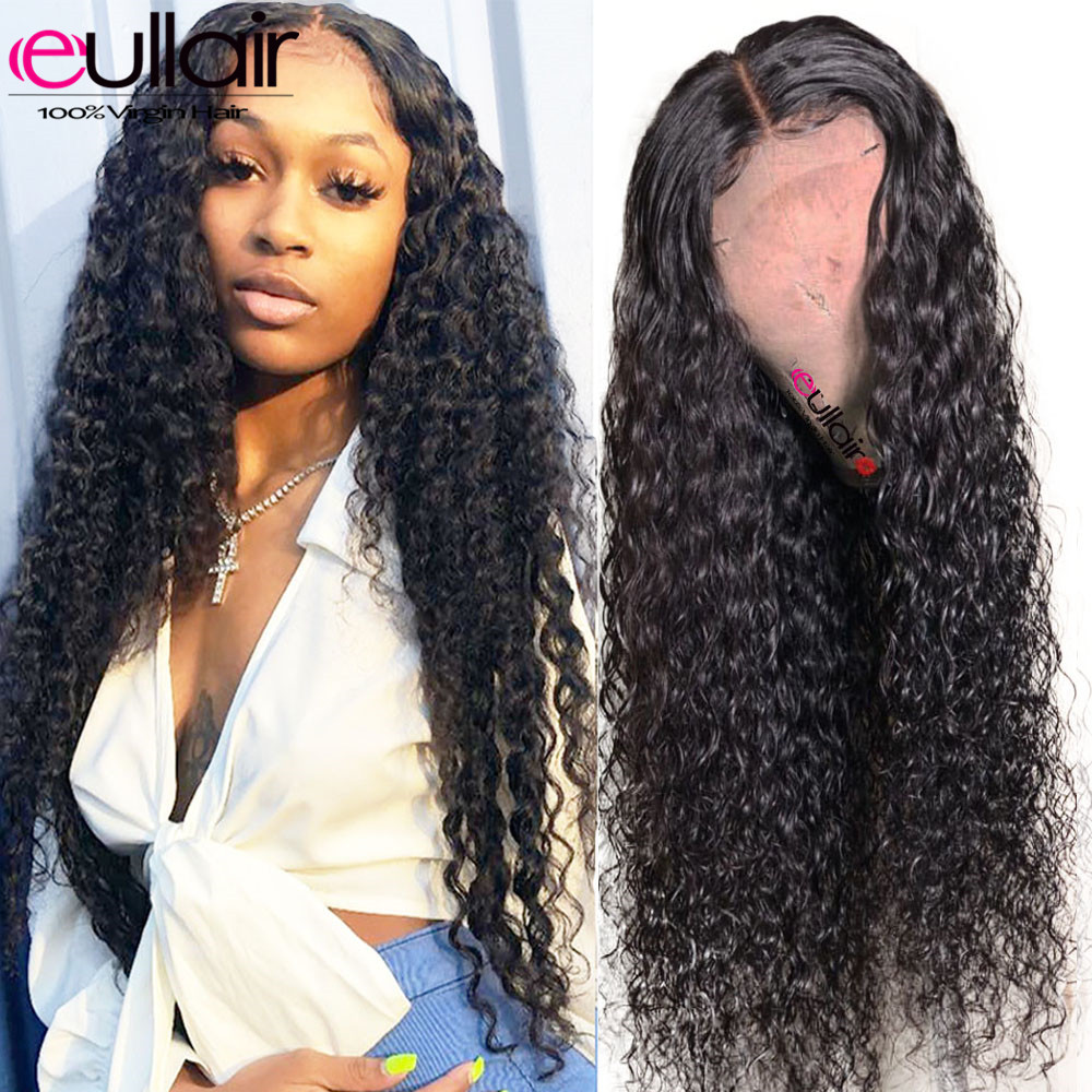 Brazilian Deep Wave Lace Front Human Hair Wigs 150% Remy Lace Front Wigs Pre-Plucked Hairline With Baby Hair For Black Women(China)