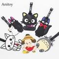 Miyazaki Hayao Totoro Kiki's cat creative silicone luggage tag pendants Totoro Luggage tags brand tourist products Bulk KT2709