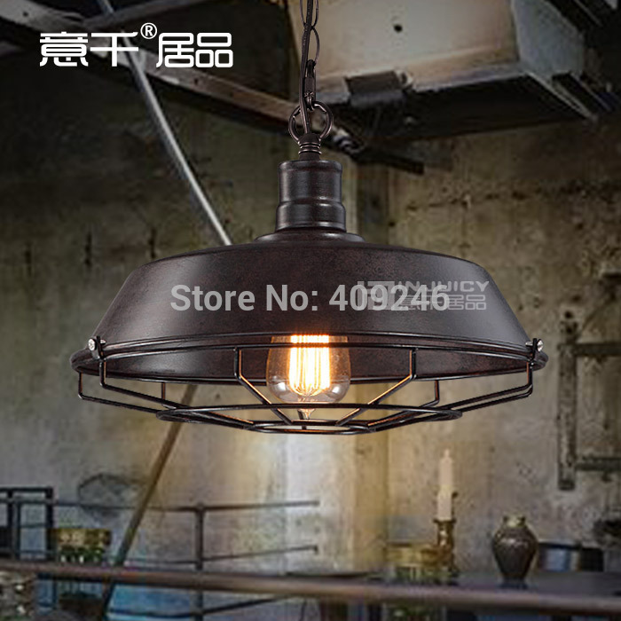 Loft Rural Industrial Vintage Pendant Lamp Restaurant Bar Lamp Cafe Lamp 36CM Black/Rust Color Droplight Coffee Shop vintage loft industrial edison flower glass ceiling lamp droplight pendant hotel hallway store club cafe beside coffee shop