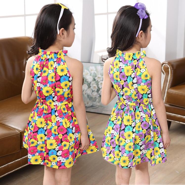 09684ce7103d 2017 Summer party Girls Dresses Sleeveless Baby child girls costume ...