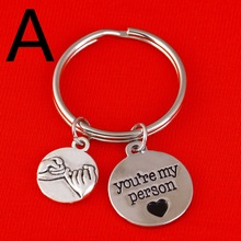 You Are My Person And Promise Charm keychain Valentines Day