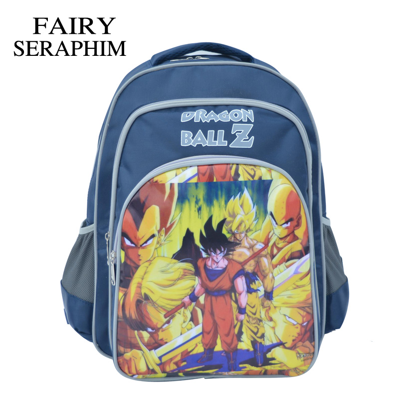 FAIRY SERAPHIM dragon ball Z Backpack Robocar <font><b>Sayajins</b></font> children bags boys and girls 600D material mochila school bag image