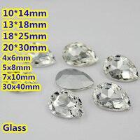 Crystal Clear Color Pear Drop Crystal Fancy Stones Teardrop Glass Stones 10 14mm 13 18mm 18