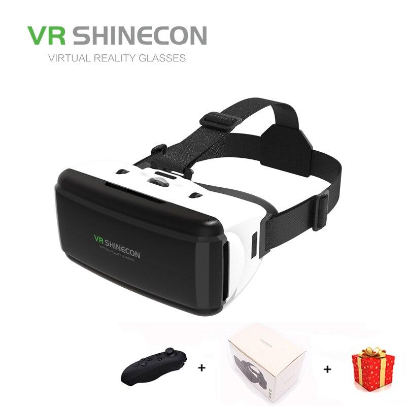 Vr Shinecon Realidad Virtual gafas 3D para teléfono inteligente Smartphone auricular Gerceklik casco gafas de cartón de Google Casque