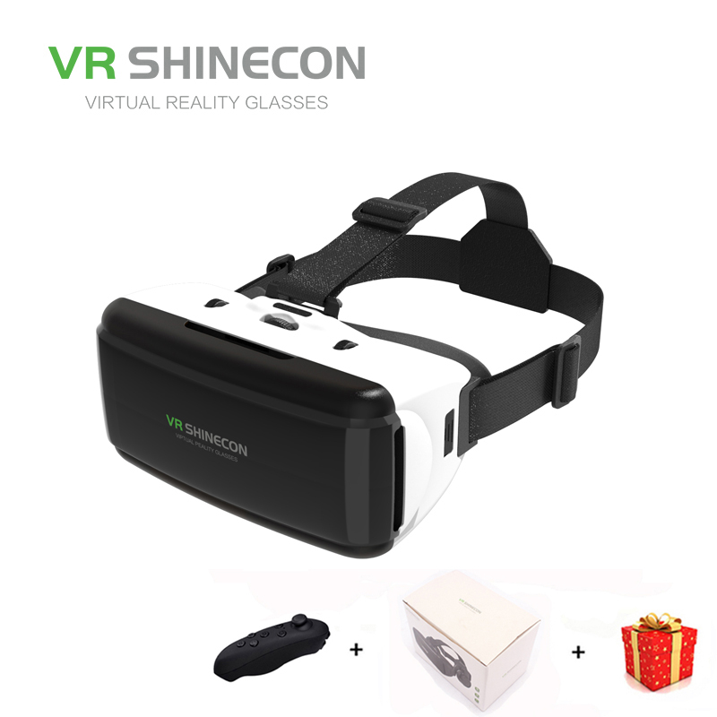 Vr Shinecon Virtual Reality Glasses 3D For Smart Phone Smartphone Headset Gerceklik Helmet Goggles Google Cardboard Casque
