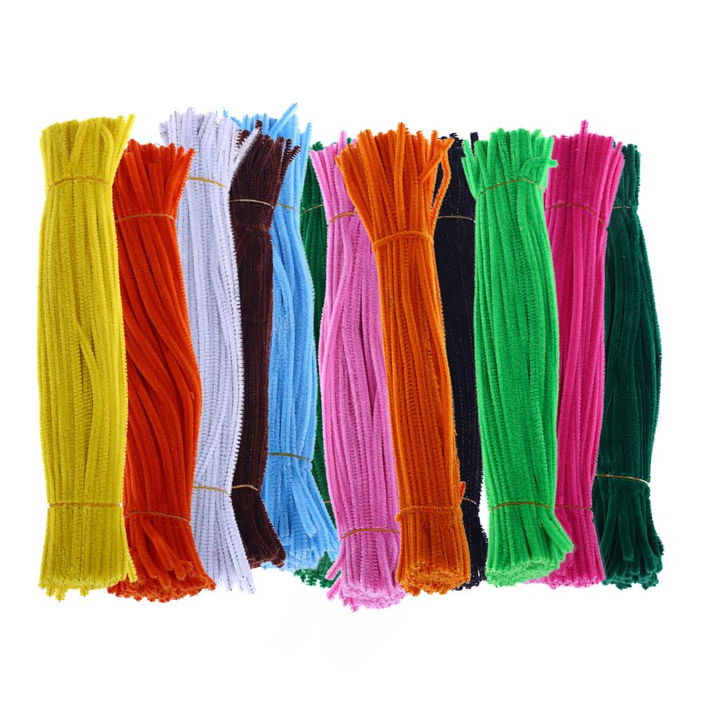 100Pcs Chenille Stems Pipe Cleaners Twist Rods Kids DIY Craft Educational Toy