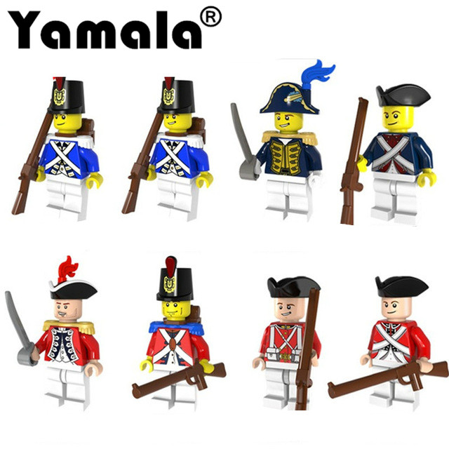 [Yamala]Imperial Redcoat Army Soldier Gun Collectible Building Blocks Children Gift Toys Compatible with LegoINGLy Army Soldiers lepin 22001 pirate ship imperial warships model building block briks toys gift 1717pcs compatible legoed 10210