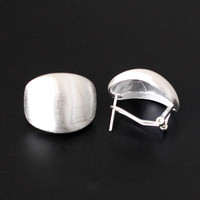 Thai Silver Earrings Sterling silver jewelry wholesale S925 Ms. drawing ear clip free shipping
