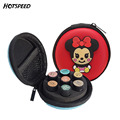 7 Bottles 1ml/2ml Cartoon Silicone Essential Oil Case Women eauty Travel Trolley Cute Vanity Makeup Cosmetic Bag Double Zipper