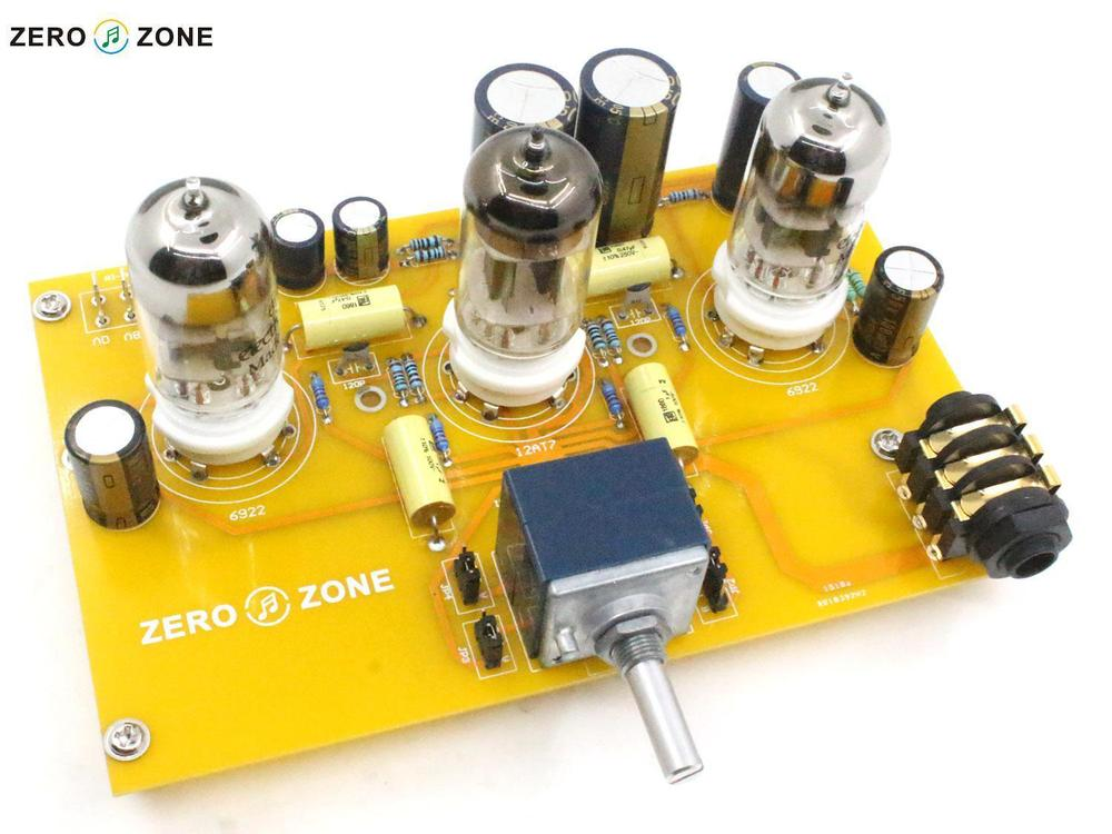 2015 NEW HIFI-STORE ZEROZONE TU1-EMP V2 Tube headphone amplifier kit 2X 6922 + 1X 12AT7 L1511-19