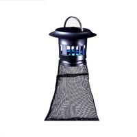 Plug In Mosquito Killer Lamp LED Silent Inhalant Light Trap UV Killing Catcher Zapper Light For Home Villa Yard Farm Mesh Bag