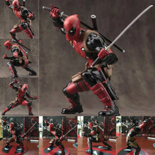 Marvel Movie Anime Figurine Superhero Deadpool X Men PVC Action Figure Model Box Toys 20cm 8″