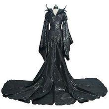 Nuevo Anime Maléfica de Disfraces de Halloween Cosplay Vestido de Balck Mujeres Traje Cualquier Tamaño Envío Libre