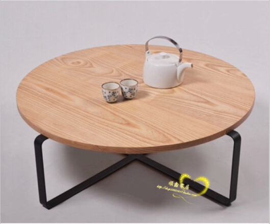 American Iron IKEA Coffee Table Round Low Tea Table To Do The Old Retro  Mash Roundtable
