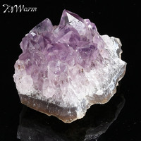 KiWarm 1PC New Arrival Natural Amethyst Gemstone Cluster Crystal Healing Stone Specimen Collectables For Home Decor