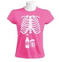 X-ray Beer Skeleton women's shirt / girlie