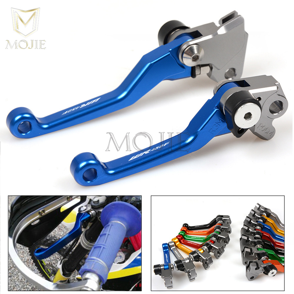 For Yamaha WR450F WR 450F WR 450F WR 450 F 2001-2016 2002 2003 2004 2005 2006 2014 2015 Motorcycle CNC Pivot Brake Clutch Levers new cnc labor saving adjustable right angled 170mm brake clutch levers for kawasaki z1000 2003 2004 2005 2006
