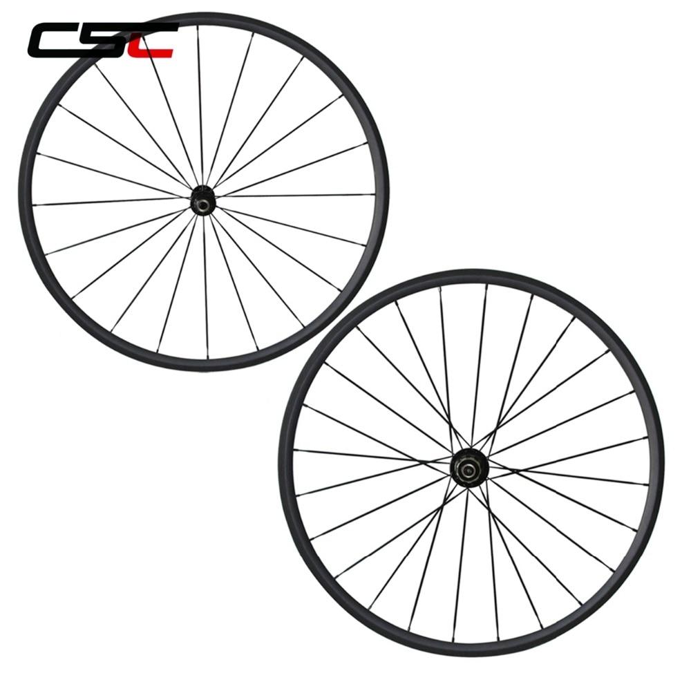 все цены на Bike Wheels 38/50/60/88mm Tubular Or Clincher U Shape Bicycle Road Racing Carbon Wheels Bike 25mm Width With A291SB/F482SB онлайн