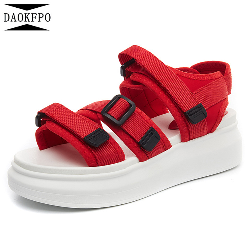 DAOKFPO Wedges Sandals Platform Casual-Shoes Fashion Summer Woman Thick-Bottom NVB-49