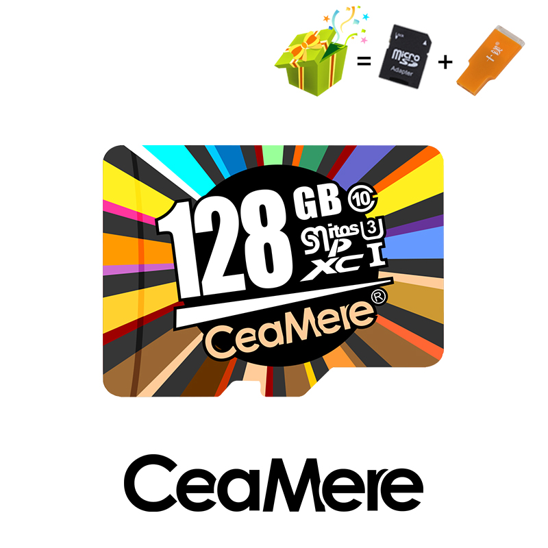 Купить с кэшбэком CeaMere Micro SD Card  Class10 UHS-1 8GB Class6 16GB/32GB U1 64GB/128GB/256GB U3 Memory Card Flash Memory Microsd for Smartphone