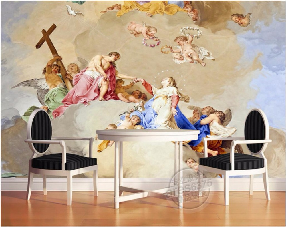 online get cheap jesus wall papers com alibaba group custom mural photo 3d wall paper picture angel love of jesus living room decor painting 3d