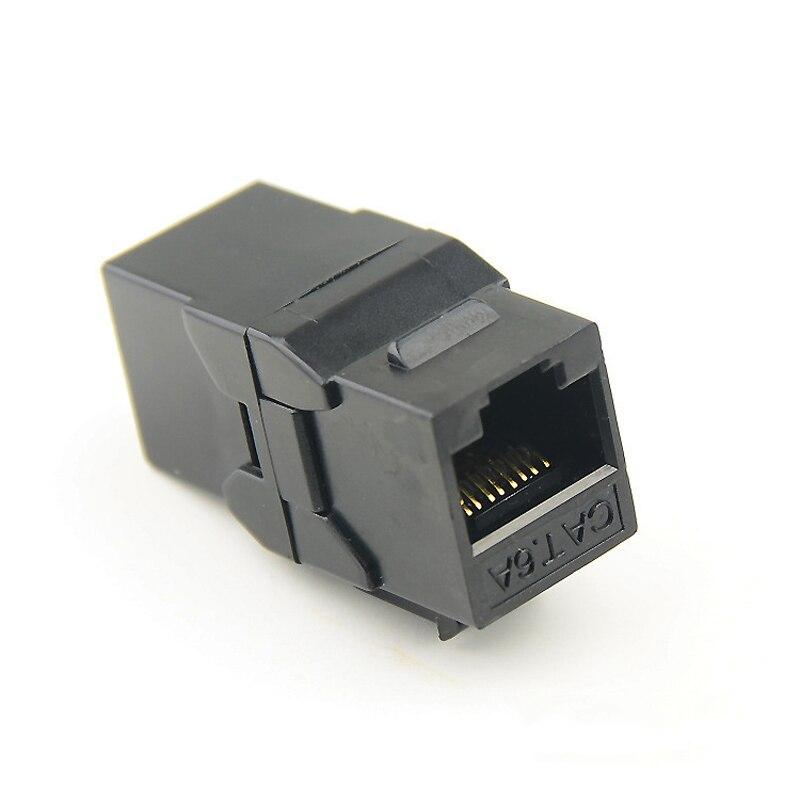 UTP RJ45 Connector CAT6 Straight Through Network Module Information Socket Computer Coupler Cable Adapter Ethernet Keystone Jack