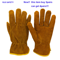 Для мужчин безопасности рабочие перчатки теплые кожаные рабочие перчатки сварки безопасности Защитные сад Спорт мото износостойкости ...