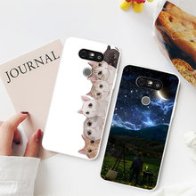 Fashion Cute Cartoon Animals Phone Case For LG G5 Painted Phone Case For LG G5 Soft Silicone Full Back Cover(China)