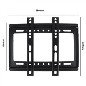 Image 2 - Universal Thin 25KG Black TV Wall Mount Bracket Flat Panel TV Frame with Gradienter for 14 42 Inch LCD LED Monitor Flat Pan