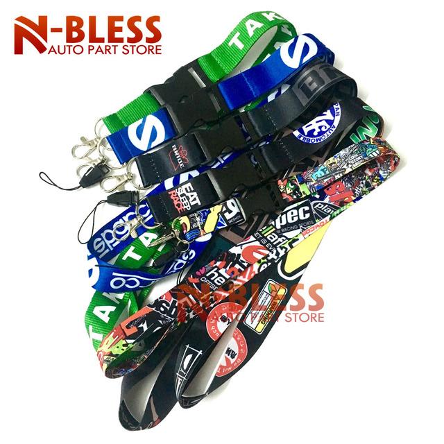 For JDM lanyard Key/Phone w/ iLL Fresh As Fck Domo Shocker etc keychain key ring ST Car Neck Cell Phone Strap key chain Racing