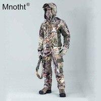 Mnotht 1:6 دعوى الملابس الصيد التمويه كاملة كامو سترات السراويل حزام طويل الأكمام كاب قناع قفازات gunsling نموذج m3