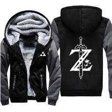New arrival hoodie jacket 젤다의 전설 와일드 로고의 숨결 후드 티 캐주얼 가디건 후드 & 스웨터 코트