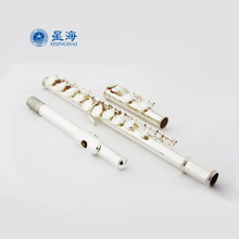 Brand XINGHAI Popular Flute 16 Hole Close C key Cupronickel Silver Plated Professional Western Concert Instruments Flute E key
