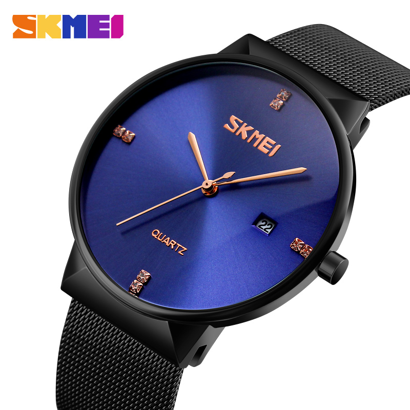2017 News Ultra Thin Men Quartz Analog Watch Men Fashion Male Clock Top Brand Luxury Stainless Steel Watchband Relogio Masculino fashion watch top brand oktime luxury watches men stainless steel strap quartz watch ultra thin dial clock man relogio masculino