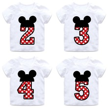 boys and girls happy birthday number 1 9 letter print t shirt enfant summer white
