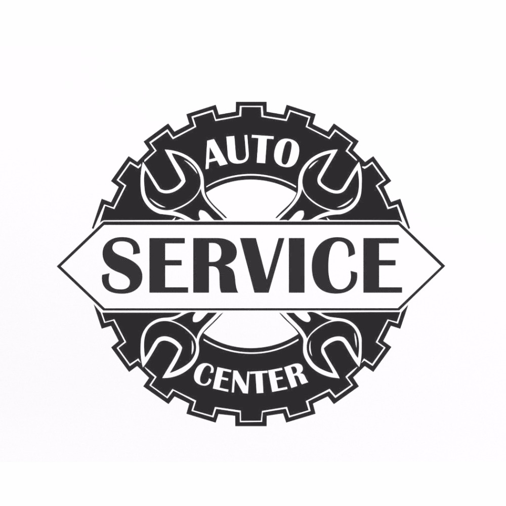 Auto Service Center Logo Window Sticker Vinyl Decal Repair Car Station Sign Garage Wall Decorations Removable Art Decals S117 ...