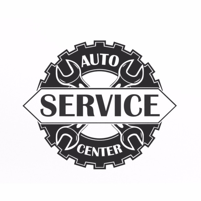 Auto service center logo window sticker vinyl decal repair car station sign garage wall decorations removable