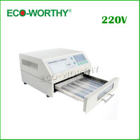EU Lager T962 Digitale Infrarot IC Heizung AC 220 V Reflow-ofen SMD BGA Solder Bereich 180*235mm 800 Watt Rework Sation Reflow Wave Oven