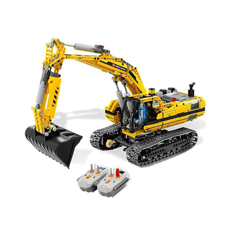 Compatible Legoe Genuine Technic 8043 model 20007 1123pcs excavator Model building blocks Figure bricks toys for children decool technic city series excavator building blocks bricks model kids toys marvel compatible legoe