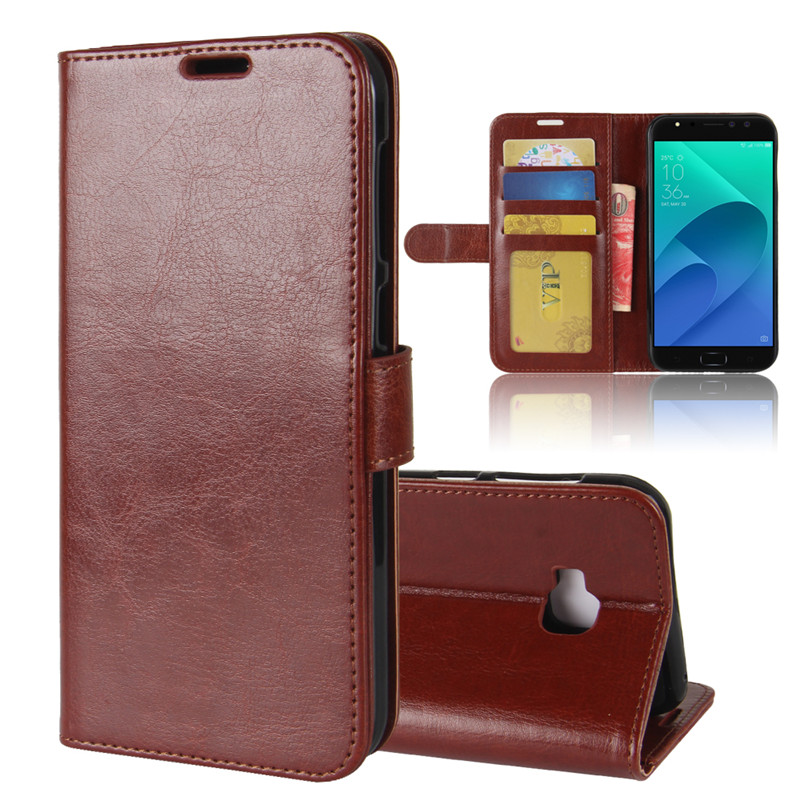 Coque For <font><b>ASUS</b></font> <font><b>Zenfone</b></font> <font><b>4</b></font> <font><b>Selfie</b></font> Pro ZD552KL Luxury Flip PU Leather+Soft Silicone Wallet <font><b>Phone</b></font> Cover <font><b>Case</b></font> For <font><b>ASUS</b></font> ZD552KL Capas image