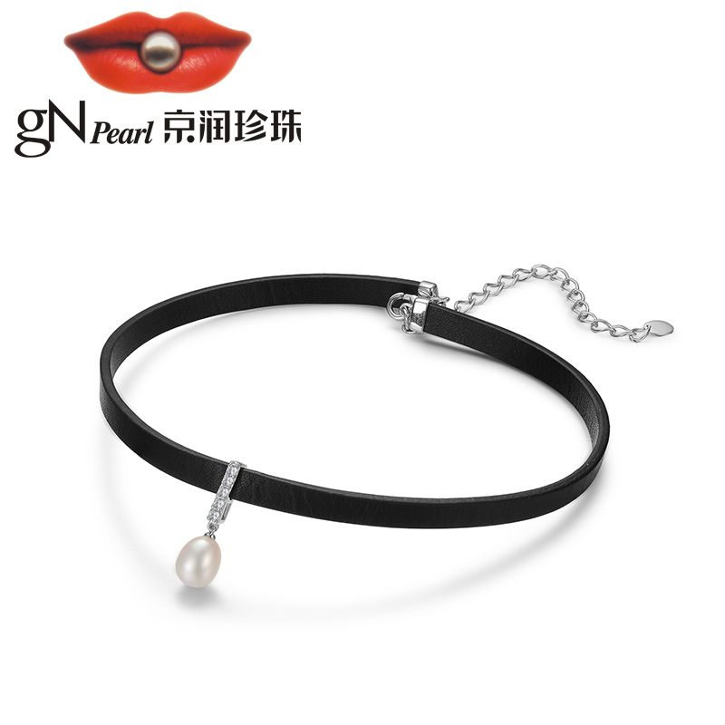 GNpearl collier chocker 925 collier en argent suspendus chaîne designer style punk mode bijoux dames