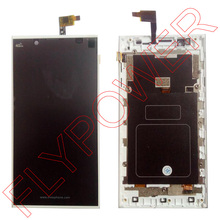 For INEW L1 LCD Screen Display +digitizer touch Screen +White Frame Assemblely by free shipping; 100% warranty
