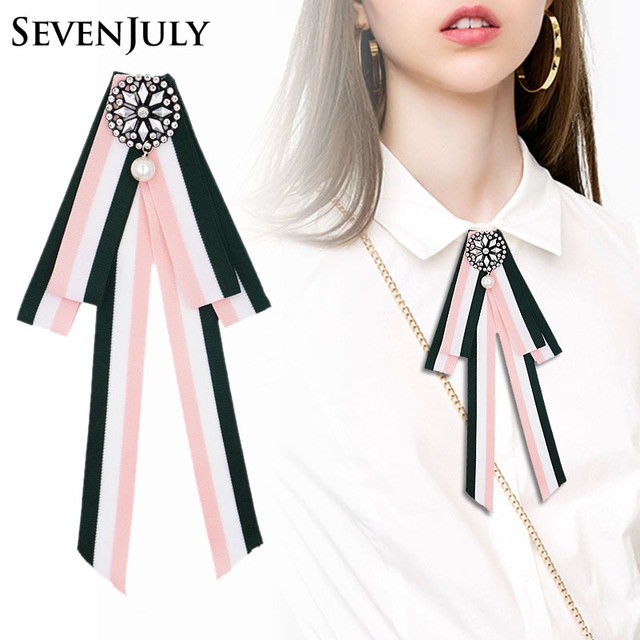 Полоса ткани брошь Для женщин блузка элегантный Модные украшения Pin Кристалл Rhinestone Одежда с цветочным принтом для девочек Аксессуары
