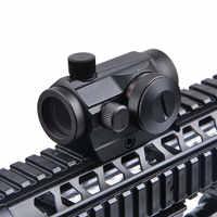Hunting Optics Riflescope Tactical Mini 5 MOA  Red Green Dot Sight 5 Models Brightness Adjustment Rifle Scope Reflex Lens