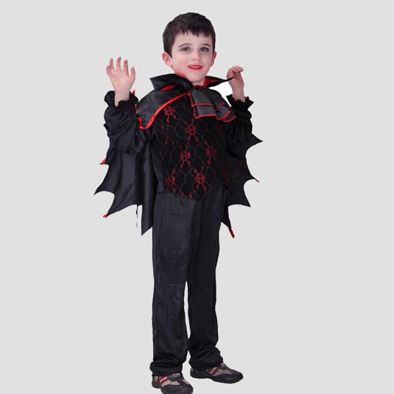Pipistrello vampiro mantello HALLOWEEN BAMBINI Cosplay Costume Con Ali Carnevale