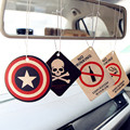 GSPSCN 2pcs Truck Car Hanging Perfumed Fragrance Papers For Hero Captain America Superman Air Freshener Car Perfume air freshene